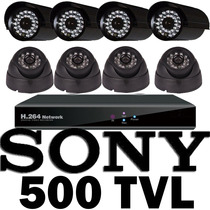 Kit Cctv Vigilancia 8 Camara 500 Tvl Sony Acceso Remota Daa