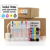 Bulk Ink Hp 4625 / 4615 Com Tinta - Pronto Para Instalar!