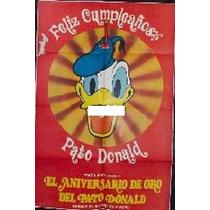 Afiche Original El Aniversario De Oro Del Pato Donald 1984