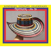 Sombrero Vueltiao Colombiano Tricolor
