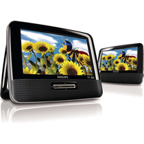 Reproductor Dvd Portatil Philips Pd9012m Con 2 Pantallas Lcd