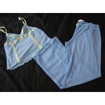 Charlotte Russe Set Pijama Celeste Mesh Talla S