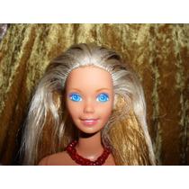 Barbie Rubia Vestido Rojo Hecha En Mexico A051