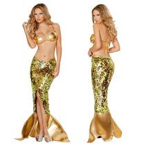 Disfraz Sirena Sirenita Sexy Halloween Y Envio