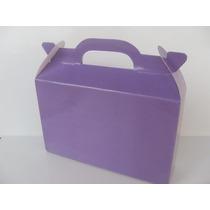 Cajita - Valijita Golosinera Color Violeta - Lisa - Pack X30