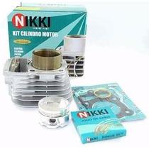 Kit Cilindro Pistao Aneis Nx 400 Falcon Nikki + Kit A
