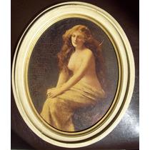 Oleo Antiguo Desnudo Femenino Siglo Xix