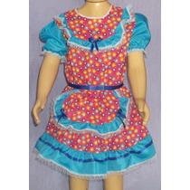 Vestido Quadrilha Infantil Menina