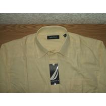 Camisa Nautica Amarilla 100% Original 15. 2/3