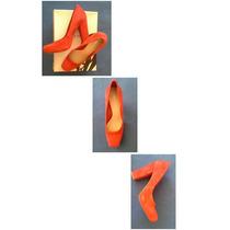 Zapatos Nine West Talla 39 Gamuza Rojos