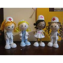 Centro De Mesa Fofucho Doctora Enfermera Foamy Fomi Fomy