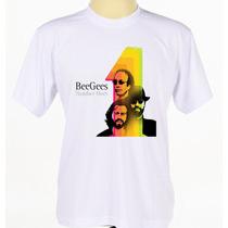 Camisa Camiseta Estampada Personalizada Banda Bee Gees