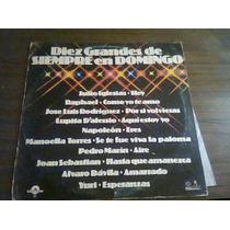 Disco De Acetato De 10 Grandes De Siempre En Domingo