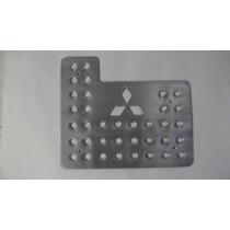 Posapies Logo Mitsubishi Aluminio Troquelado 3 Piezas