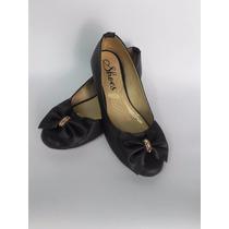 Linda Baleta Calzado Zapato Dama En Negro Mujer Envío Gratis