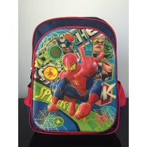 Mochila Infantil Escolar Costas Grande Homem Aranha 3d