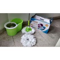 Balde Spin Mop Verde 360°giratório Cesto E Haste Inox+refil
