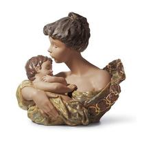 Escultura Porcelana Marca Lladro - Beso De Madre Coleccion
