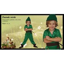 Disfraz Atuendo Peter Pan Duende Verde Varon Children´s