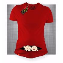 Blusa Maternidad Gemelos Embarazada Bebesgecko Promocion 5x4