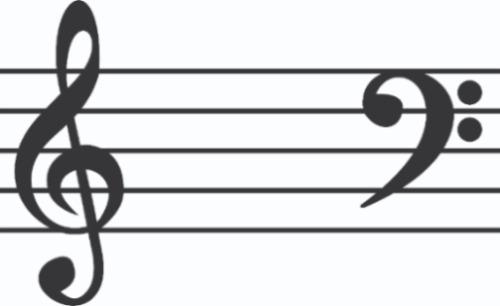 Sticker Vinil Autoadherible Tema Musical Clave De Sol Y Fa