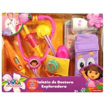 Kit Medico Infantil Com Maleta Dora A Aventureira Mattel