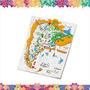 Juego Juguete Didactico Lona Mapa Argentina P/pintar Y Lavar