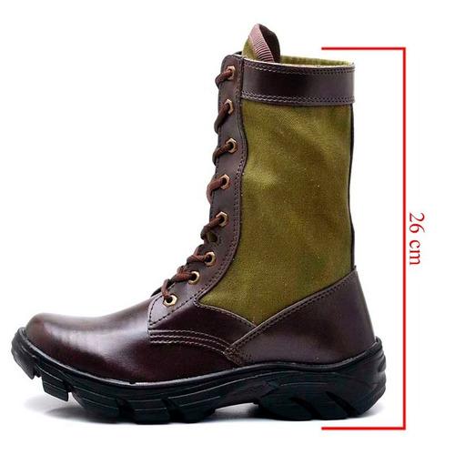 12a7336f92 Bota Coturno Lona Camuflado Militar Masculino Tatica Forte - R$ 89 ...