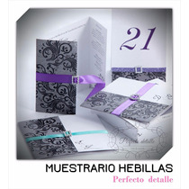 Envio + Muestrario Hebillas Y Filigranas Invitaciones Epd