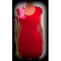 Vestido De Algodon Y Encaje Con Espalda Descubierta Vs Color