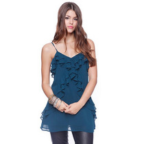 Eisuku 11415 Chic Blusa De Seda Escarolas Moda Asia $449