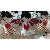 5 Angelitos 3d Navidad