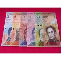 Billetes Venezuela Coleccion 6 Billetes Nuevos Envio Gratis