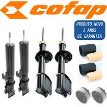 Kit 4 Amortecedor Uno Premio Elba Cofap + Kit + Coxim Axios