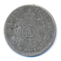 Francia 1 Franco 1869 Bb Estrasburgo Plata Km 806.2 Napoleon