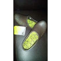 Crocs Casuales De Dama Marrones Talla 4
