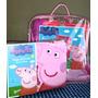 Frazadas Plush Infantiles + Sabana Piñata Peppa Pig Original