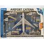 Kit 18 Peças Carrinhos E Avião Aeroporto Com Fricção E Som