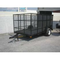 Remolque Jaula Camioneta Cuatrimoto Plataforma Pet Mty