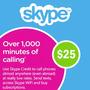 Tarjeta Skype Card 25 Usd Dolares Codigo Global