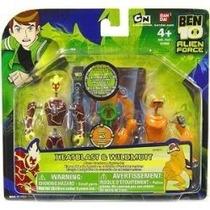 Ben 10 Alien Creación Cámara Mini Figura 2pack Heatblast Y