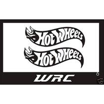 Set 2 Stickers Vinil Hot Wheels Logo Automovil Moto 17 X 6cm