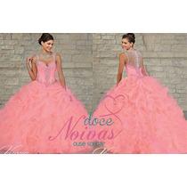 Pronta Entrega Vestido Debutante Rosa Claro Novo