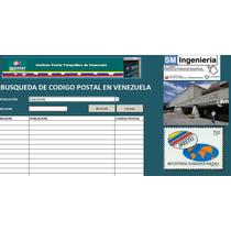 Hoja Excel Buscador De Codigos Postales De Venezuela