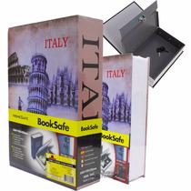 Livro Cofre Camuflado Grande Joias Aço Capas Exclusivas 24cm