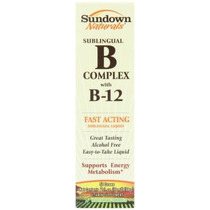 Sundown Naturals Vitamina B-12 Complex Sublinguales 2 Onzas