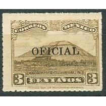 Sc O212 Año 1934 Oficial Piramide Del Sol Teotihuacan 3c