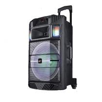 Caixa De Som Amplificada 200w C/ Entrada Usb/sd/radiofm+mic