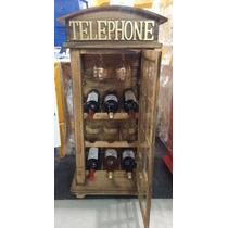 Cristaleira Cabine Telefone De Londres Vermelha
