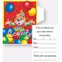 Convites De Festa Aniversário Infantil Tema Palhaço